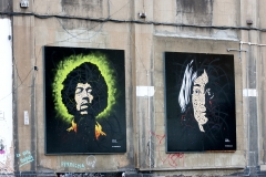 Lennon & Jimi by Osch, London