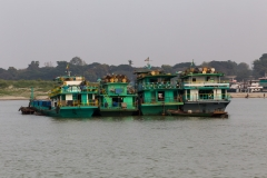 Boats on the Irrawaddy River, Myanmar (Burma)