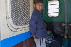Burmese Boy in Train