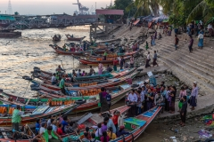 Rush hour on the Yangon river